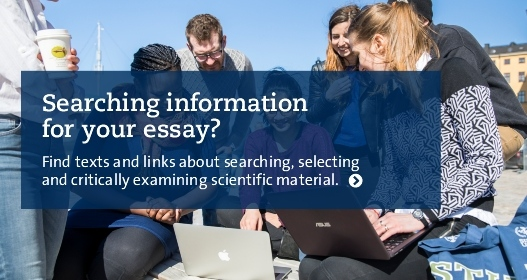 Searching information for your essay