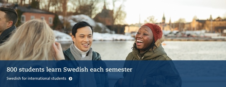 800 students learn Swedish each semester. Swedish for international students. Photo Niklas Björling