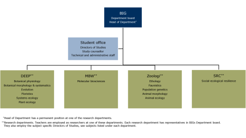 departments of an organisation
