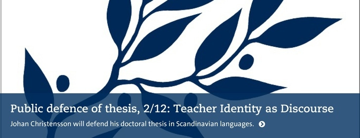 Public defence of doctoral thesis 2/12. Johan Christensson